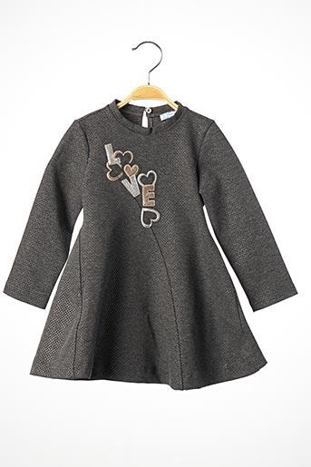 Robe mi-longue gris MAYORAL pour fille