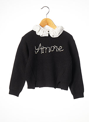 Pull col chemisier noir MAYORAL pour fille