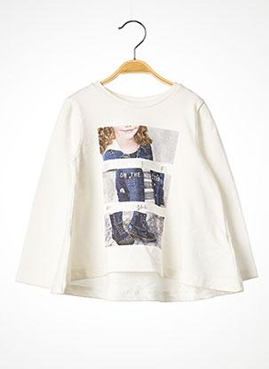 T-shirt manches longues blanc MAYORAL pour fille