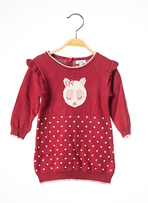 Robe pull rouge ABSORBA pour fille