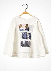 T-shirt manches longues blanc MAYORAL pour fille seconde vue