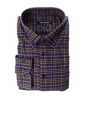 Chemise manches longues marron TED LAPIDUS pour homme