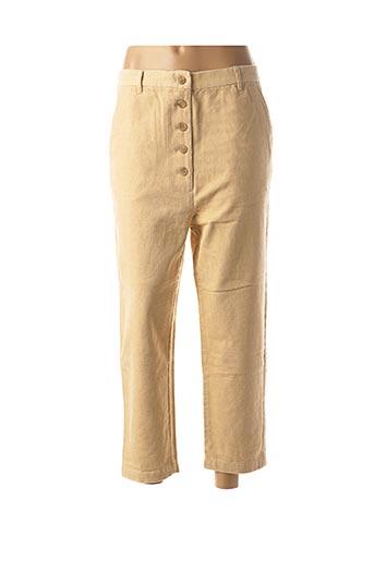 Pantalon 7/8 beige BELLA JONES pour femme