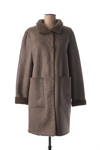 Manteau court gris BEAUMONT pour femme