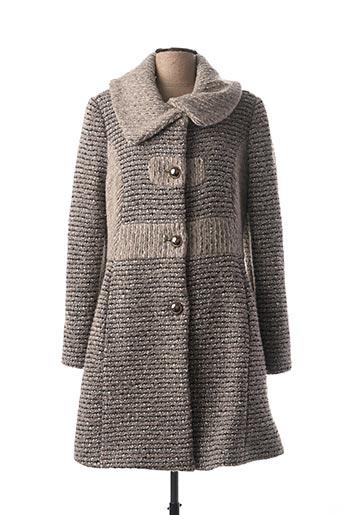 Manteau long gris DIVAS pour femme
