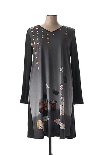 Robe mi-longue gris ANATOPIK pour femme