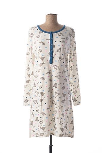 Chemise de nuit blanc MASSANA pour femme