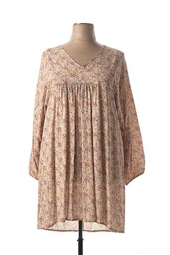 Robe mi-longue rose C'MELODIE pour femme