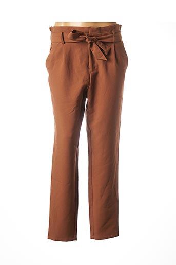 Pantalon chic marron DEELUXE pour femme