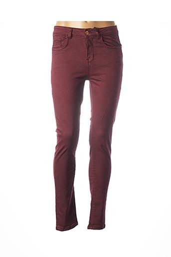 Pantalon casual rouge DEELUXE pour femme