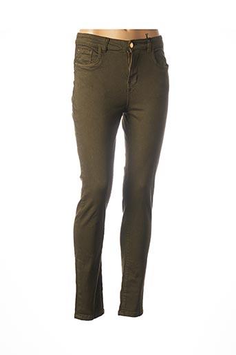 Pantalon casual vert DEELUXE pour femme