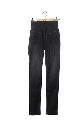 Jeans coupe slim noir DIVA pour femme