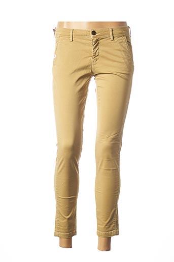 Pantalon 7/8 beige TEDDY SMITH pour femme