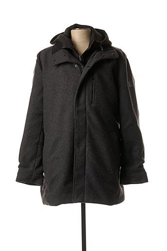 Manteau long gris GUESS pour homme