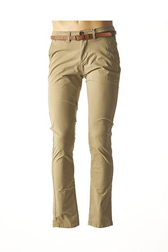 Pantalon casual beige PETROL INDUSTRIES pour homme