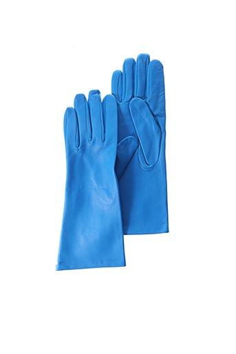 Gants bleu ANDRE POUJADE pour femme