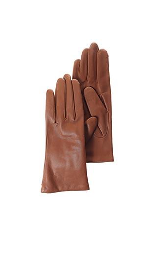 Gants marron AGNELLE pour femme