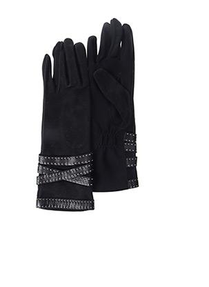 Gants noir AGNELLE pour femme