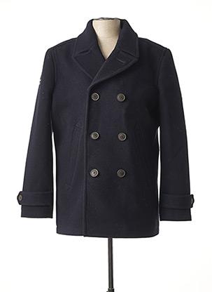 Manteau court bleu SUPERDRY pour homme