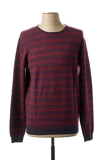 Pull col rond rouge PIERRE CARDIN pour homme