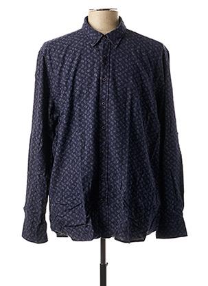 Chemise manches longues bleu BUGATTI pour homme