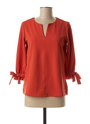 Blouse manches longues orange GARCIA pour femme