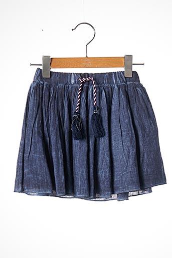 Jupe mi-longue bleu 3 POMMES pour fille