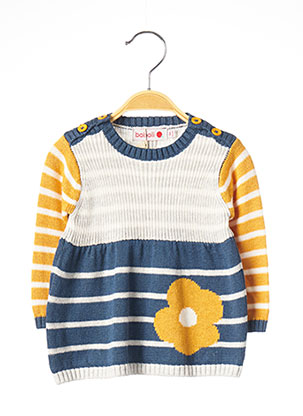 Robe pull bleu BOBOLI pour fille