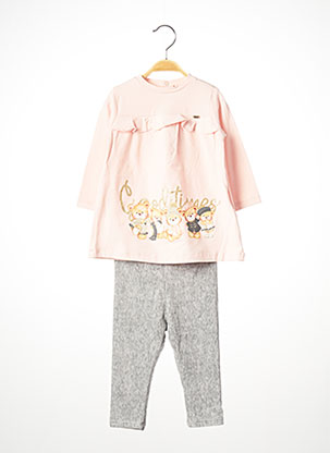 Top/pantalon rose MAYORAL pour fille