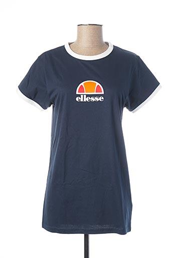 T-shirt manches courtes bleu ELLESSE pour femme