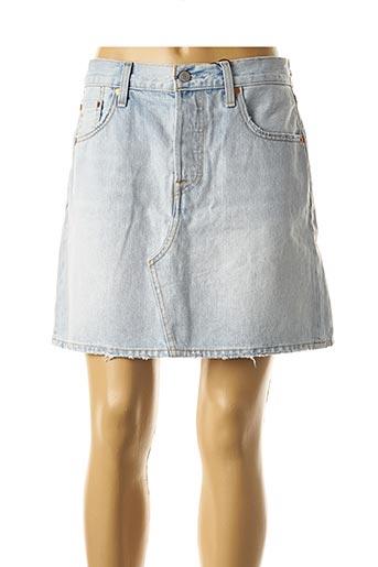 Jupe courte bleu LEVIS pour femme