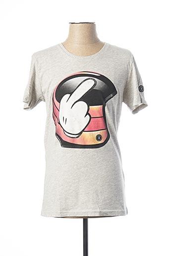 T-shirt manches courtes gris LE TEMPS DES CERISES pour homme