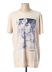 T-shirt manches courtes beige SALSA pour homme seconde vue