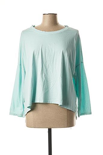 T-shirt manches longues bleu COLETTE pour femme