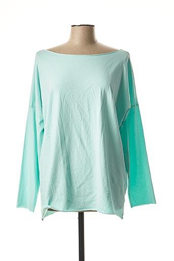 T-shirt manches longues bleu ELEGANCE pour femme