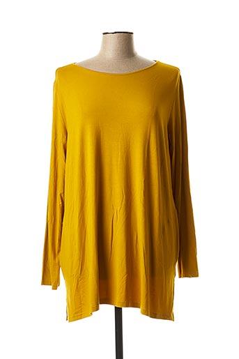 Tunique manches longues jaune CRAZY WOOL pour femme