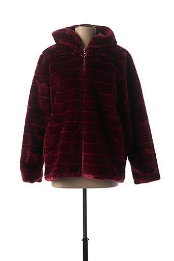 Manteau court rouge MINSK pour femme