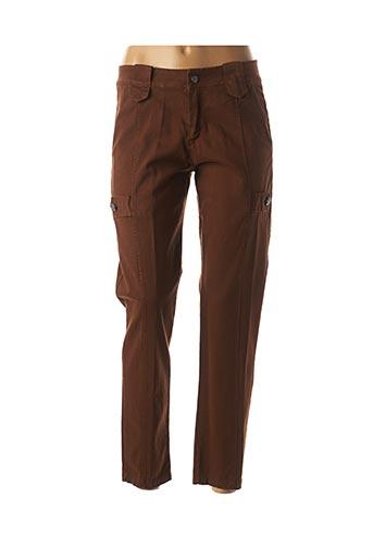Pantalon 7/8 marron MADO'S SISTER pour femme