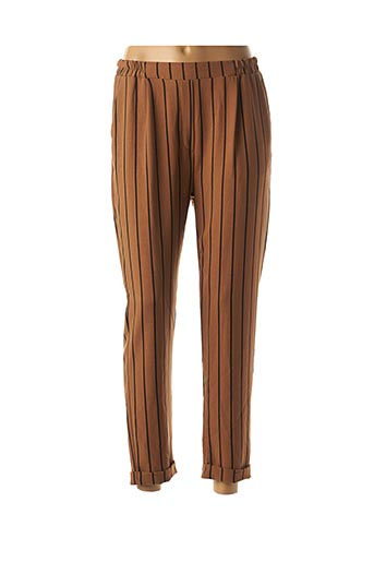 Pantalon 7/8 marron MINSK pour femme