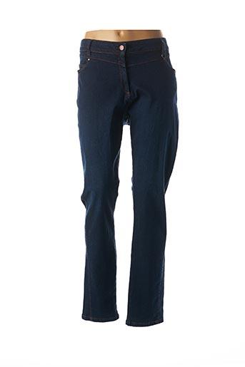 Jeans coupe droite bleu MADO ET LES AUTRES pour femme