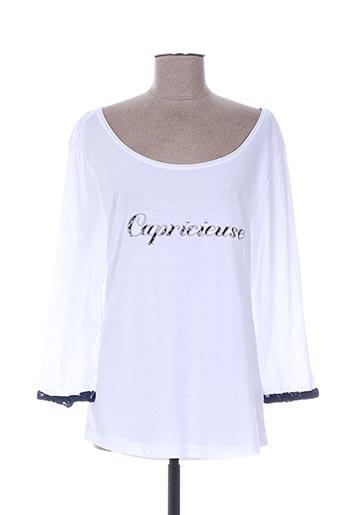 T-shirt manches longues blanc BREIZH ANGEL pour femme