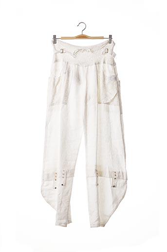 Pantalon 7/8 blanc CATY LESCA pour femme