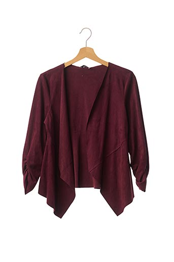 Veste casual rouge RENATTO BENE pour femme