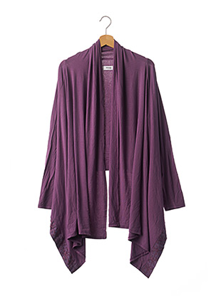 Gilet manches longues violet MYRINE & ME pour femme