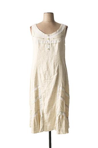Robe mi-longue beige BE THE QUEEN pour femme