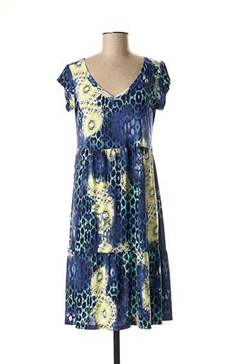 Robe mi-longue bleu CANAT pour femme