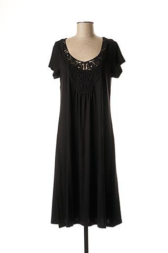 Robe mi-longue noir CANAT pour femme
