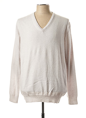 Pull col V gris HACKETT pour homme