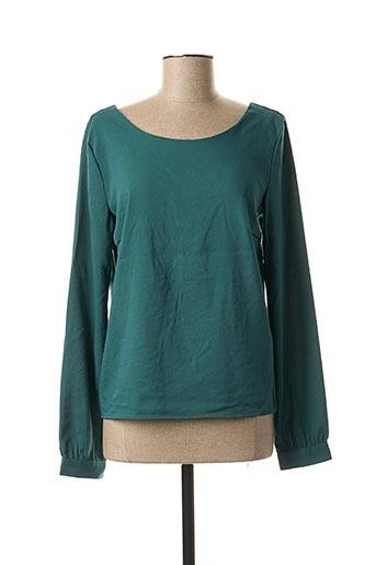 Blouse manches longues vert VILA pour femme