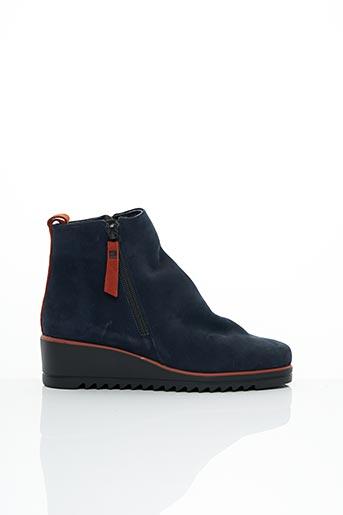 Bottines/Boots bleu HIRICA pour femme